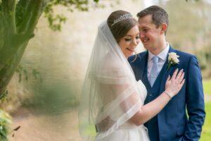 Bride and Groom at Saltmarshe Hall
