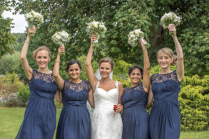 Brides having fun in Wakefield