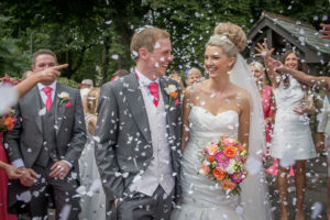 Bride and Groom Confetti Photography in Ackworth