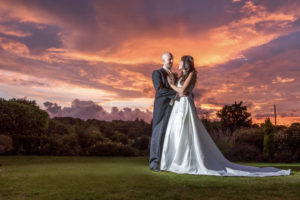Sunset wedding photography in Wakefield