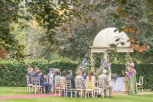 Outdoor ceremony at Wenbridge House Hotel