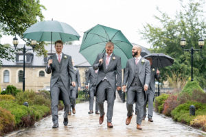 Rainy day wedding photography with the guys at Waterton Park Hotel in Wakefield