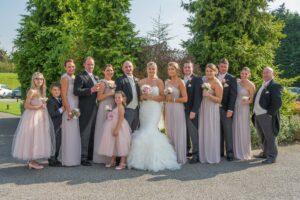 Bridal Party photographed at The Bridge Inn Walshford