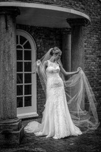 Bridal shot at the Bridge Inn at Walshford