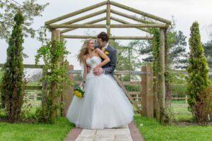 Bride and groom photography at The Bridge Inn, Walshford, Wetherby near Leeds