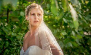 Bride photographed at The Bridge Inn Walshford