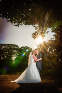 Bride and Groom photographed at the Bridge Inn Wetherby