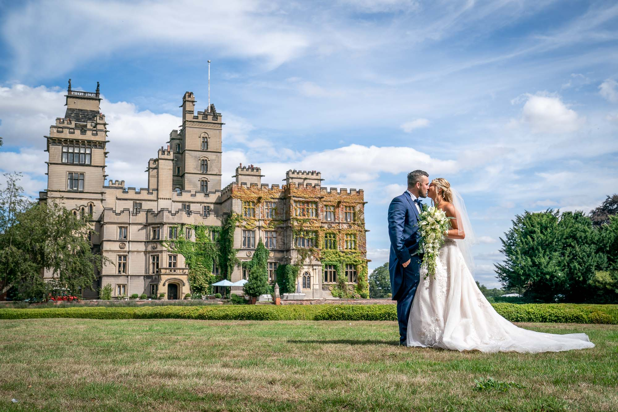 Bride and groom wedding photography at Carlton Towers