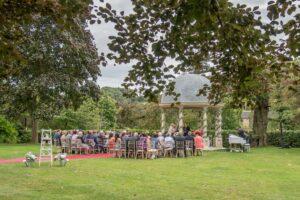 Outdoor ceremony at Wentbridge House Hotel in Pontefract