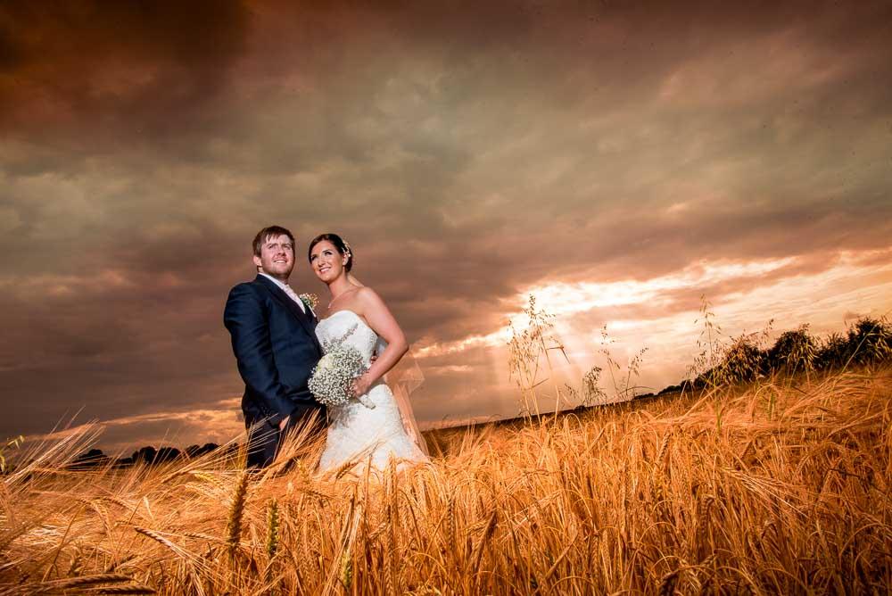 Hazlewood Castle Wedding Photographer Sunset Shot