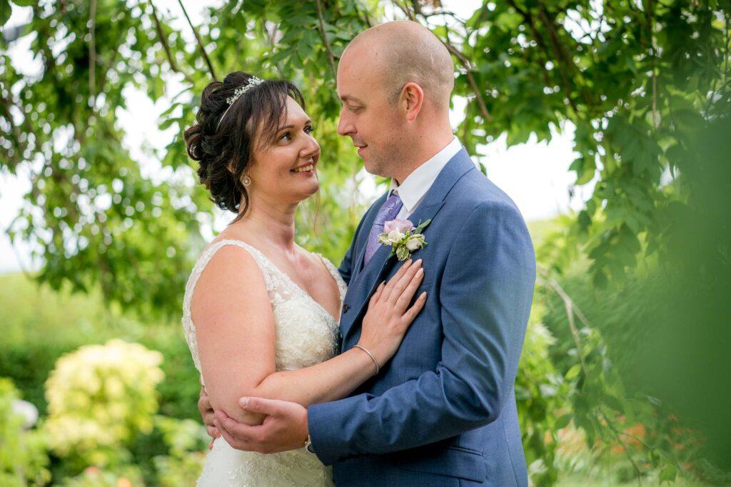 Bride and Groom at Kings Croft Hotel In Pontefract