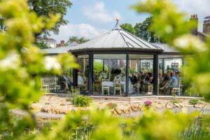Outdoor wedding at Kings Croft Hotel in Ponfract