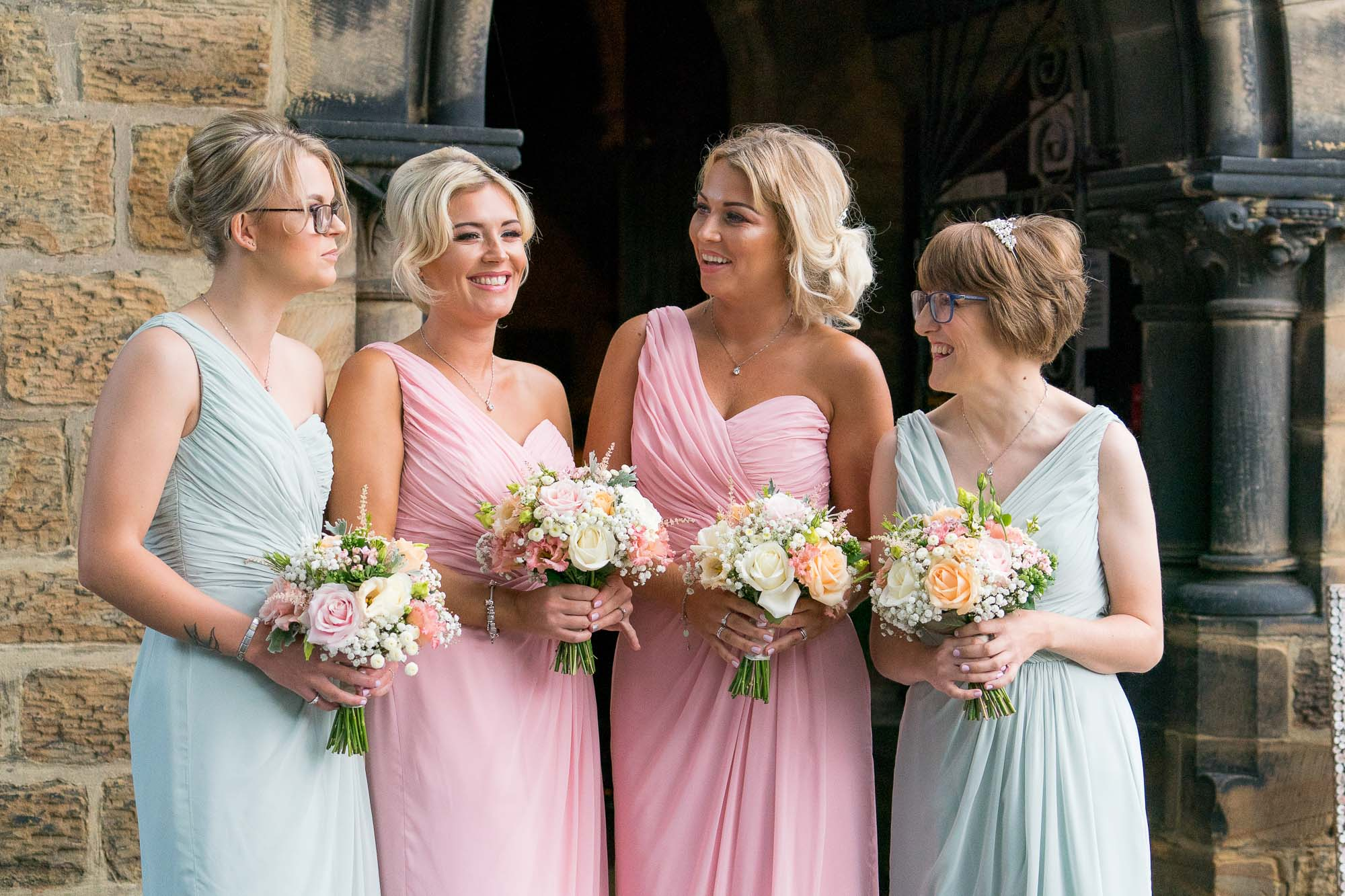 Brides chatting before the ceremony in Castleford