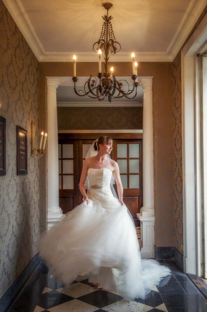 Bride portrait at Oulton Hall in Leeds