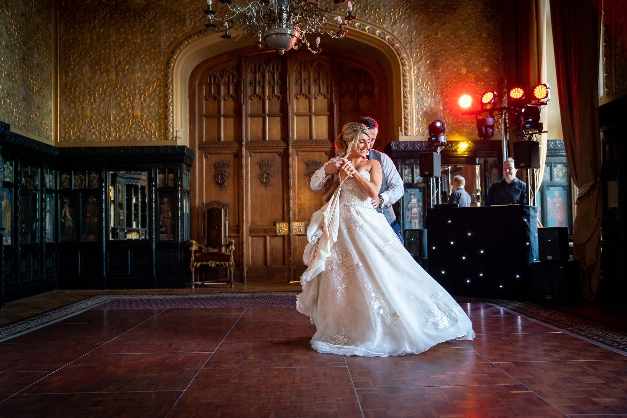 First dance at Carlton Towers in Selby