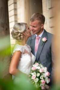 Bride and groom wedding photography at Waterton Park Hotel in Wakefield