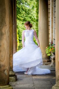 Bride portrait at Waterton Park Hotel in Wakefield