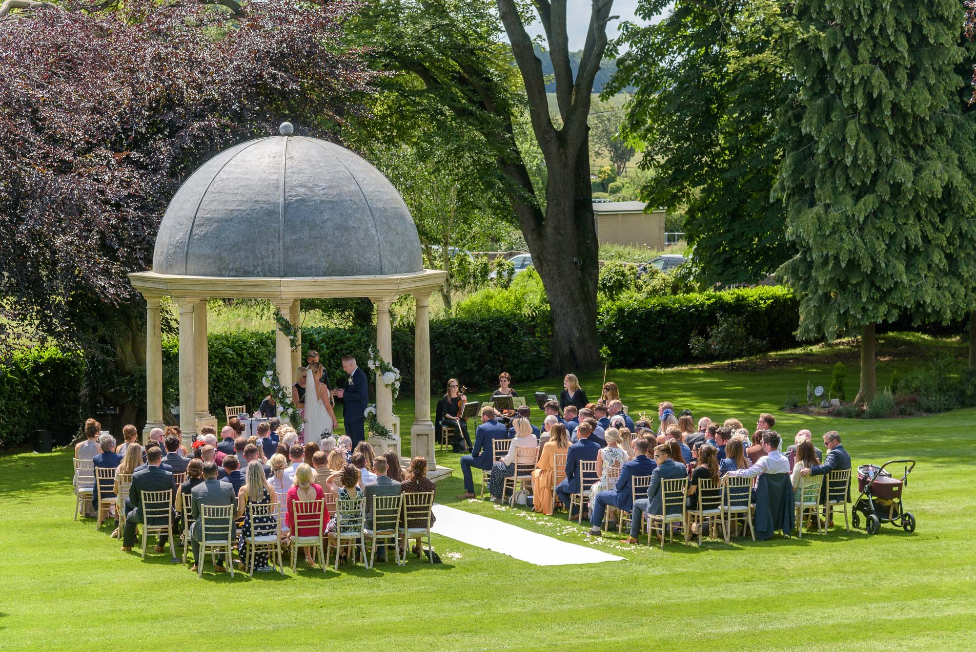 Wentbridge House Hotel Outdoor Wedding