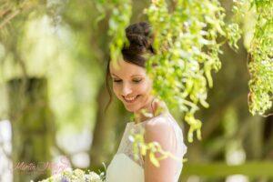 Bride at York Maze Wedding Day