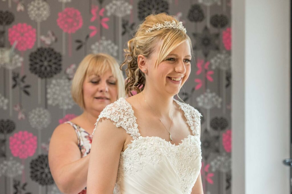 Bridal Preps photography at The Bridge Inn, Wetherby near Leeds