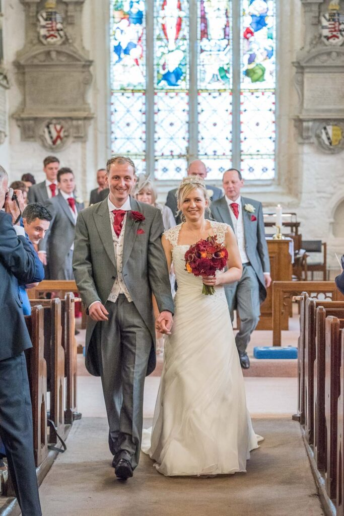 Wedding ceremony at Kippax Church near Leeds