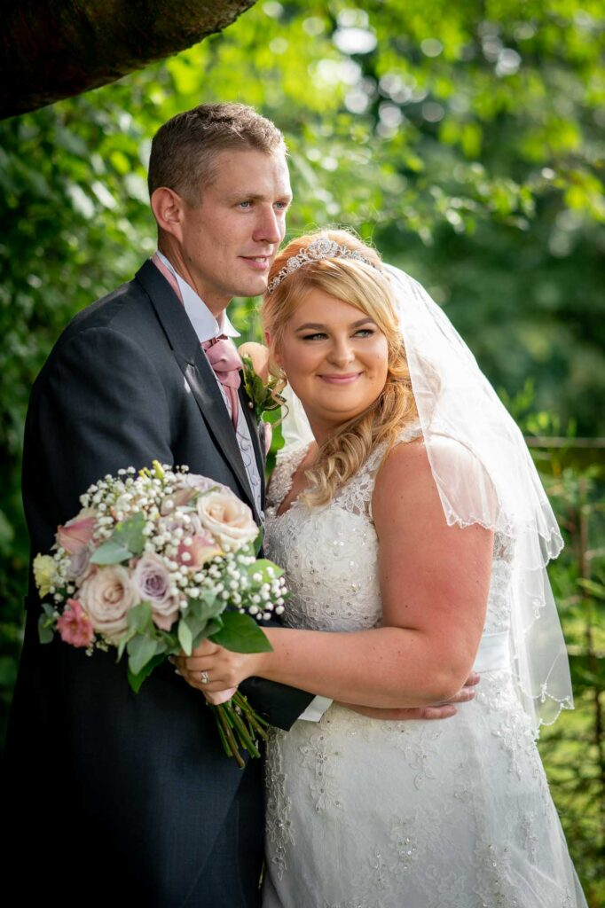 Bride and Groom Wedding Photography at The Bridge Inn Wetherby