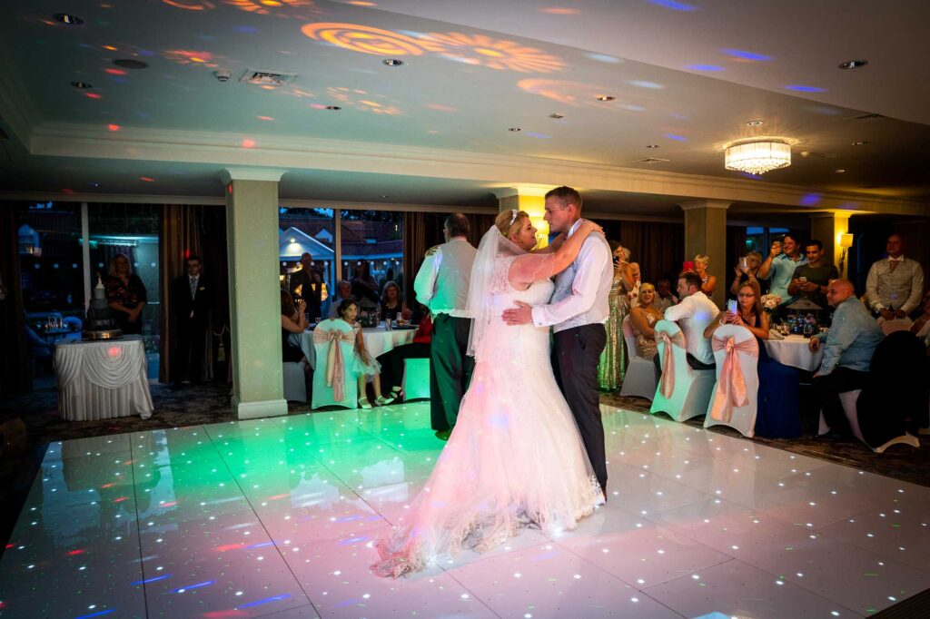 Bride and Groom First Dance at The Bridge Inn Wetherby