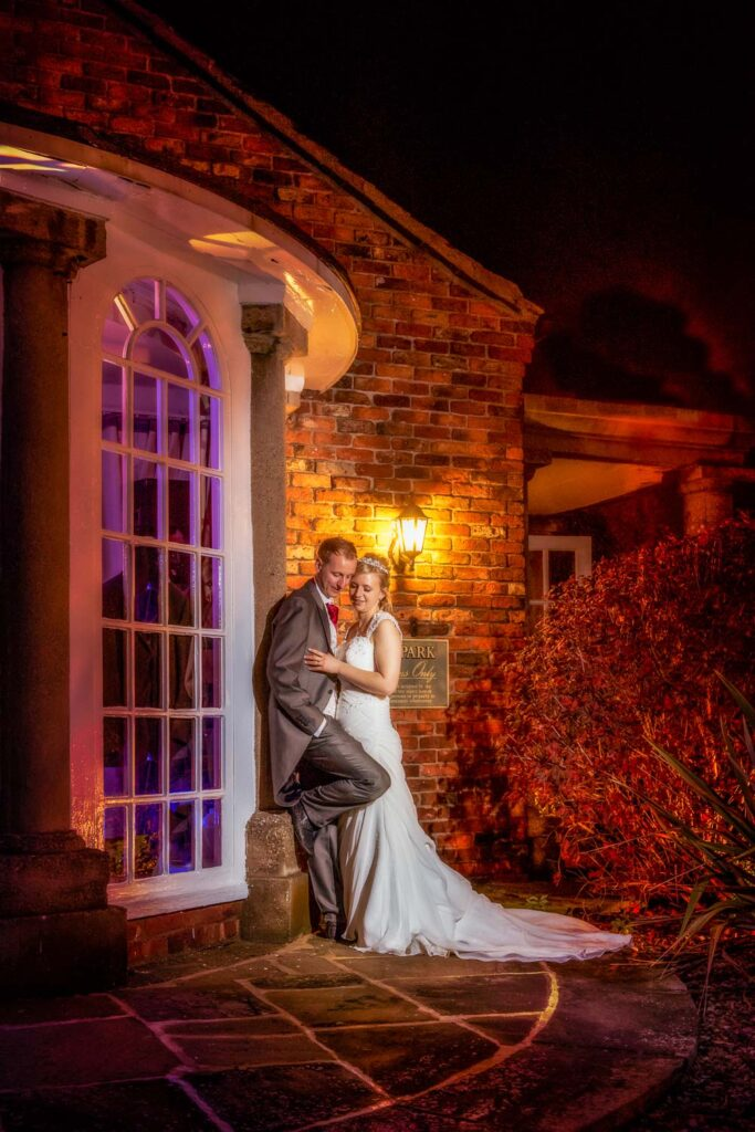 Bride and groom photography at The Bridge Inn, Walshford, Wetherby near Leeds