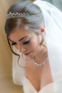 Bridal photograph at Saltmarshe Hall