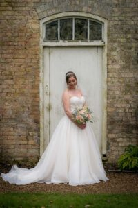 Bride photographed at Saltmarshe Hall near Goole and Selby