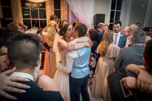 Bride and groom dancing at Saltmarshe Hall in Goole