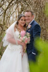 Bride and Groom Wedding Photography at Thorpe Park in Leeds