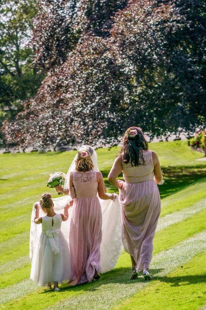 Bridesmaids at Wentbridge House Hotel in Pontefract