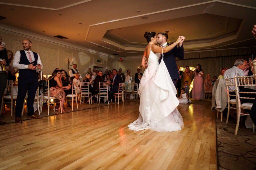 Bride and Groom First Dance at Wentbridge House Hotel in Pontefract