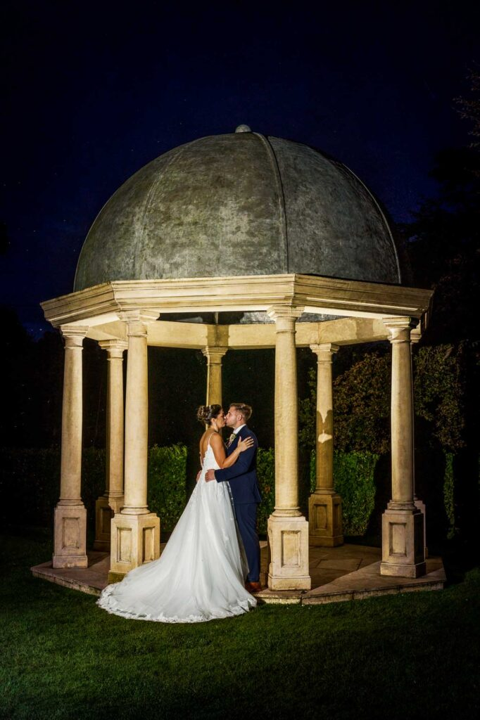 Bride and Groom Twilight Shots at Wenbridge House Hotel in Pontefract