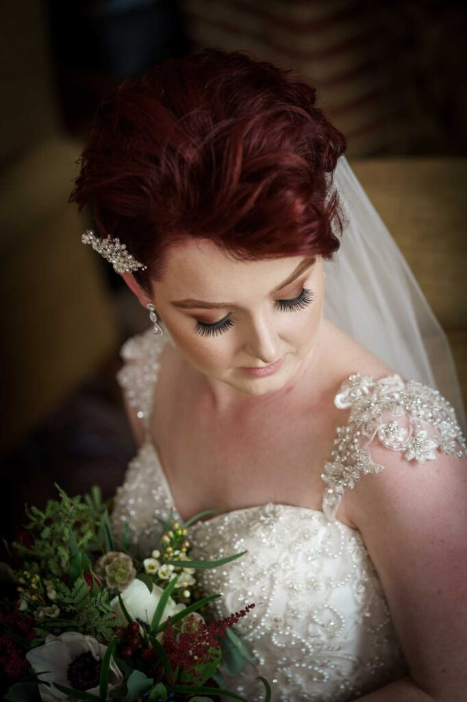 Bridal portrait at Wenbridge House Hotel in Pontefract