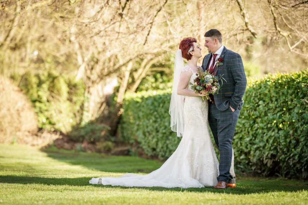 Bride and Groom photographed at Wentbridge House Hotel In Pontefract