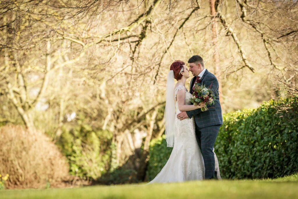 Bride and Groom photographed at Wentbridge House Hotel In Pontefract