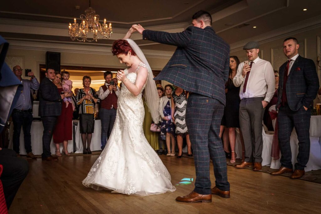 First dance at Wentbridge House Hotel In Wakefield