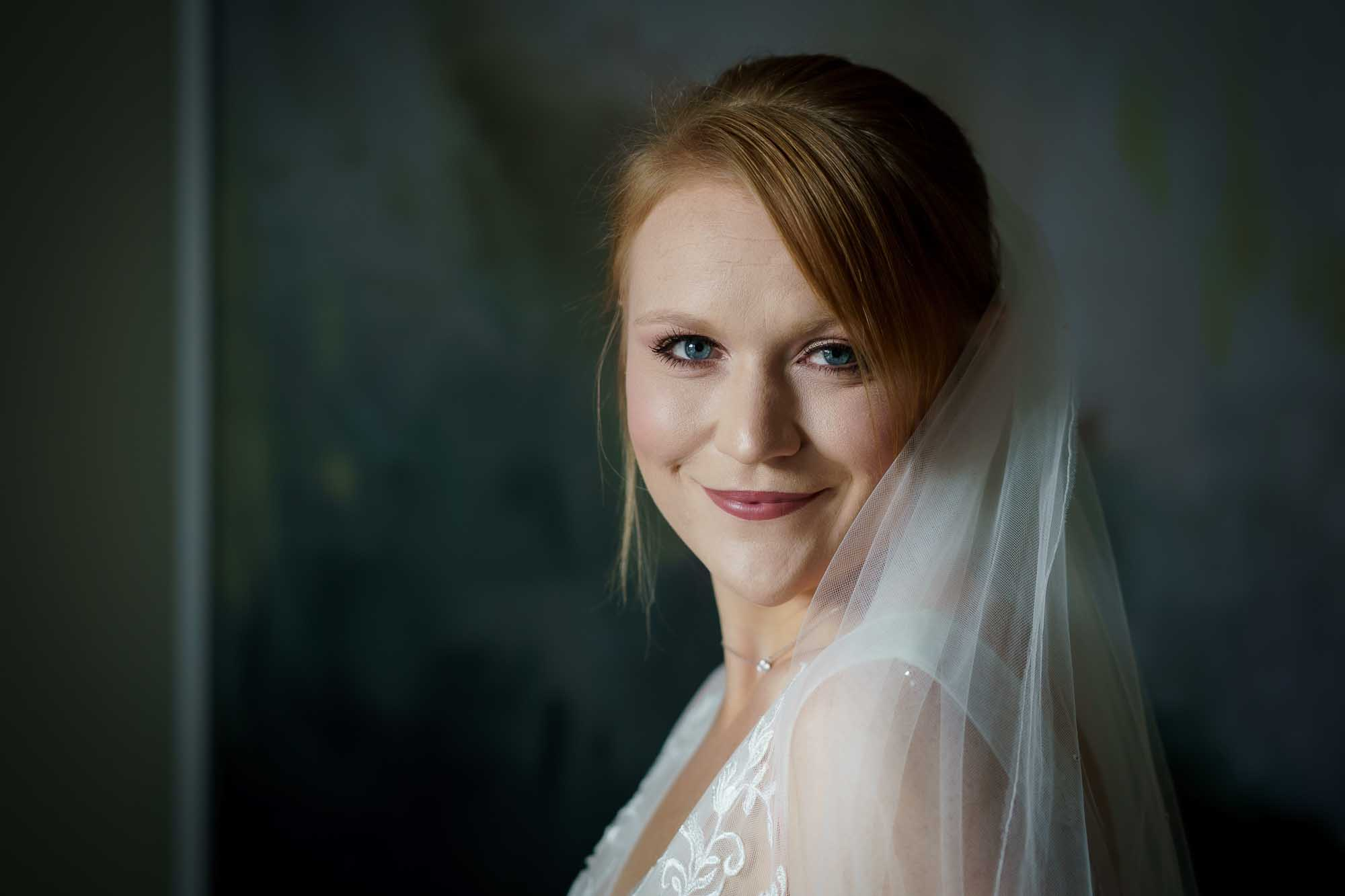 Bridal portrait at Wentbridge House Hotel in Pontefract