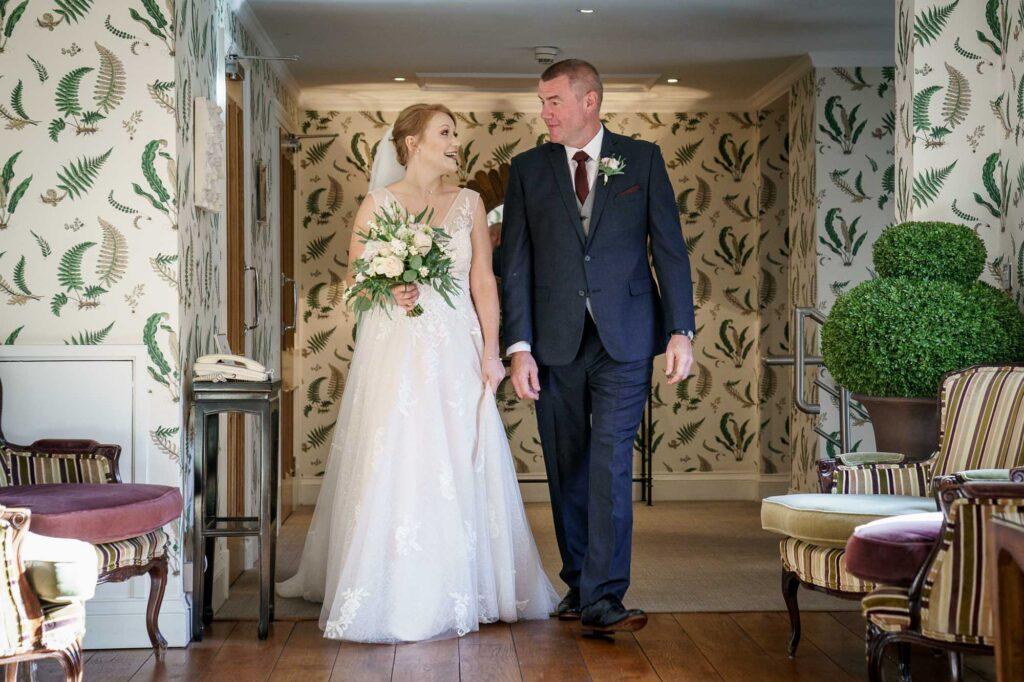 Dad and Bride at Wentbridge House Hotel in Pontefract