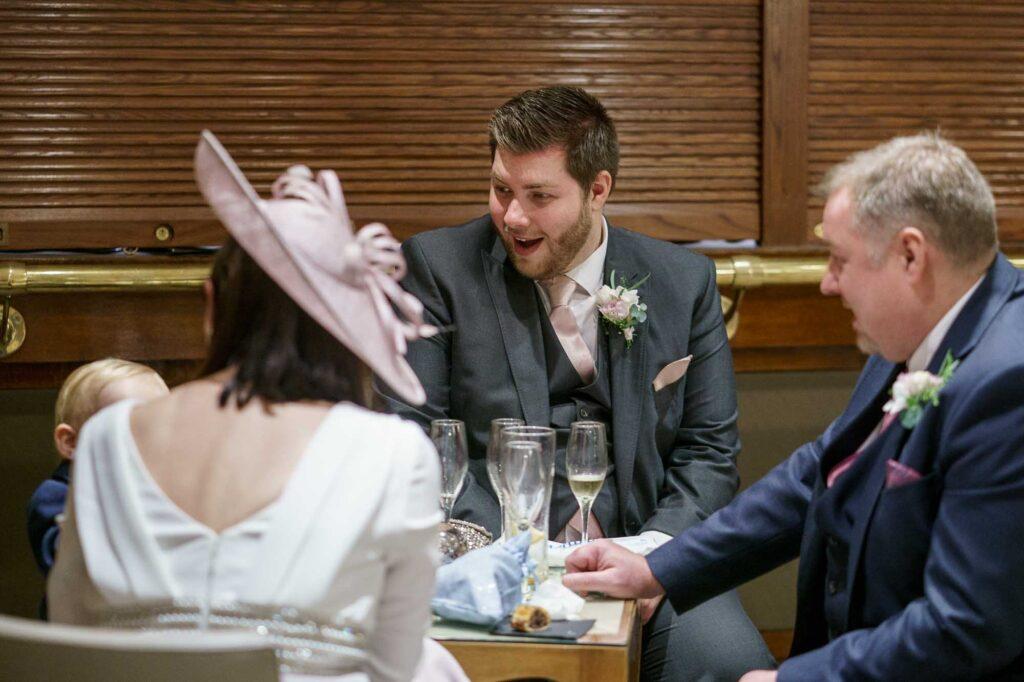 Wedding Guests photographed at Wentbridge House Hotel in Pontefract