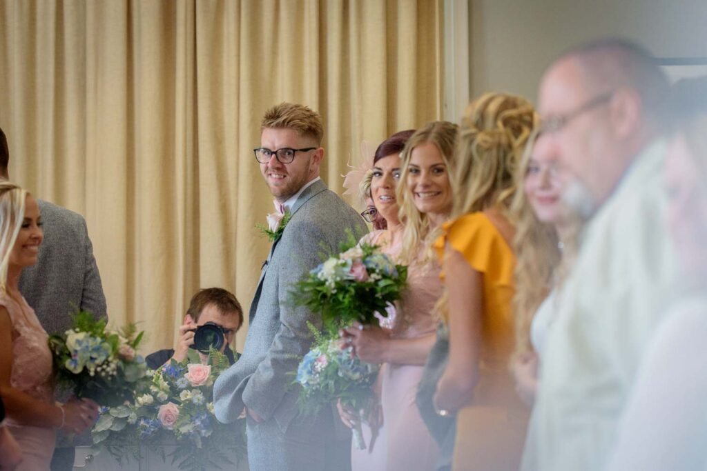 Ceremony photographs at Woodlands Hotel in Gildersome near Leeds
