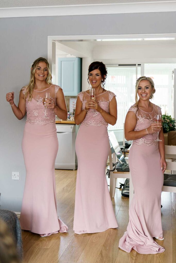 Bridesmaids at Bridal Preps at Woodlands Hotel in Gildersome near Leeds