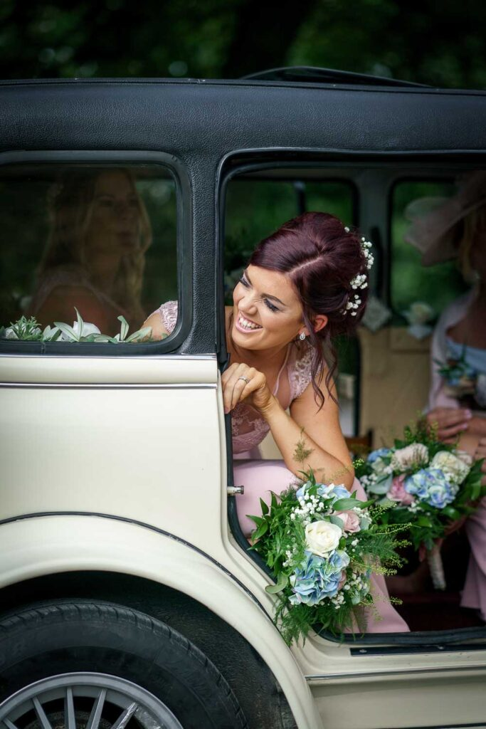 Candid of bridesmaids at Woodlands Hotel in Leeds