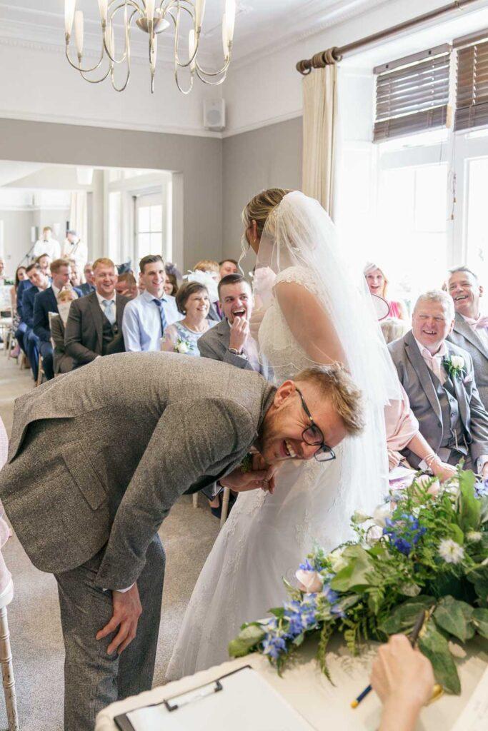 Wedding Ceremony at Woodlands Hotel in Leeds