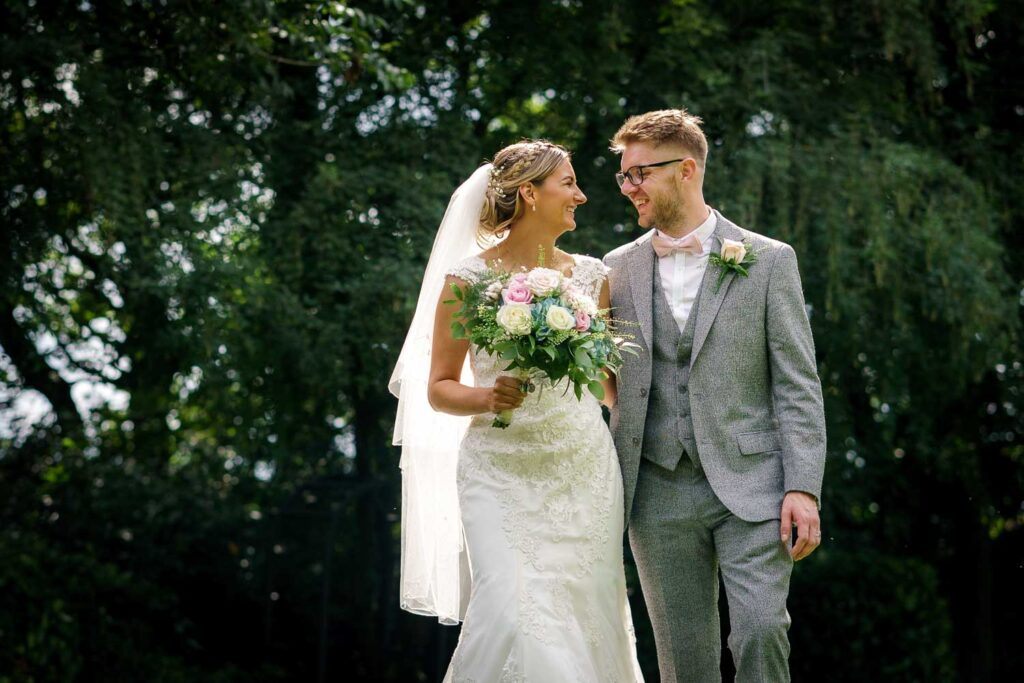 Bride and groom photographed in Doncaster