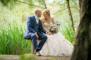 Bride and groom at Chevin Country Park Hotel