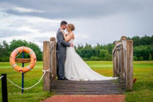 Bride and groom at Sandburn Hall Hotel