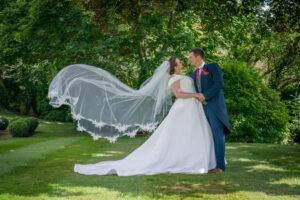 Flying veil at Wentbridge House Hotel